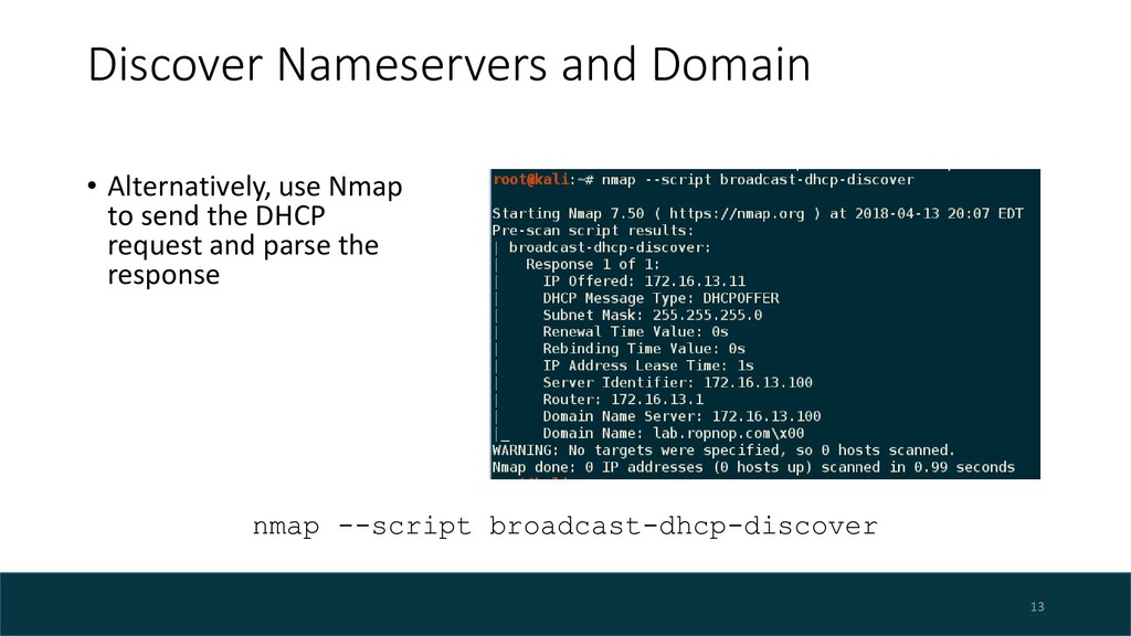 Discover Nameservers and Domain • Alternatively...