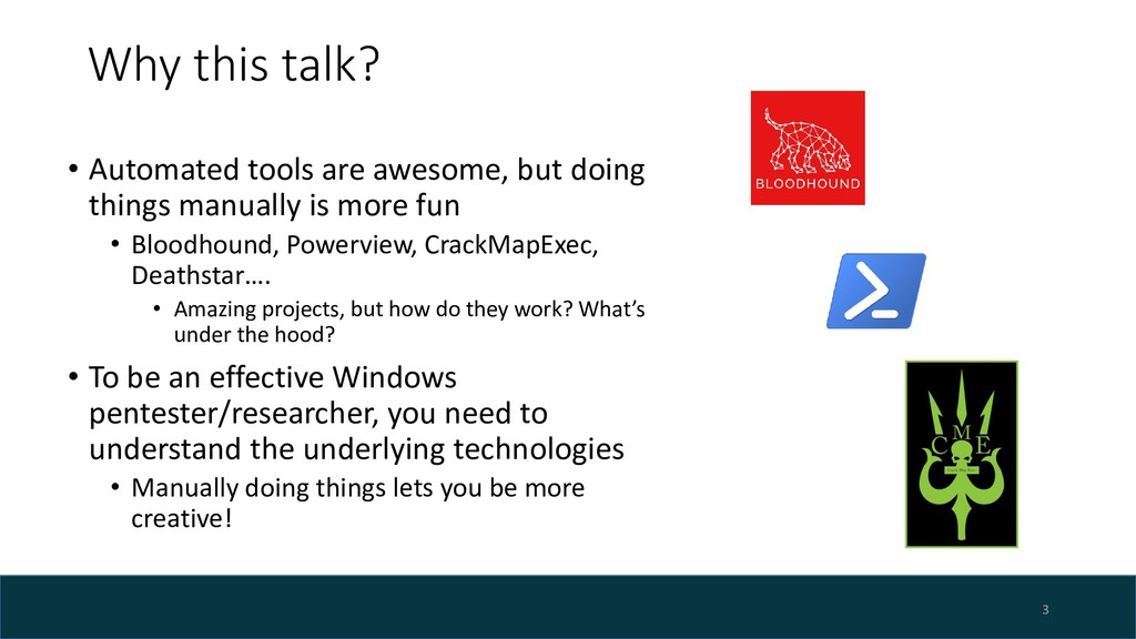 Why this talk? • Automated tools are awesome, b...