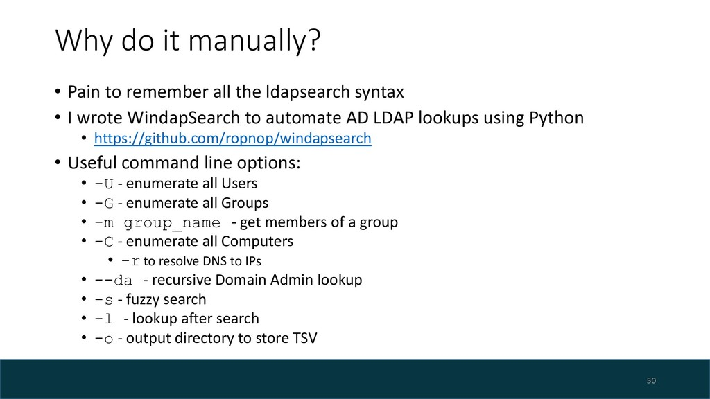 Why do it manually? • Pain to remember all the ...