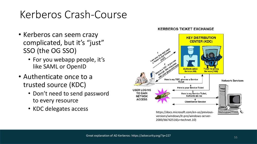 Kerberos Crash-Course • Kerberos can seem crazy...