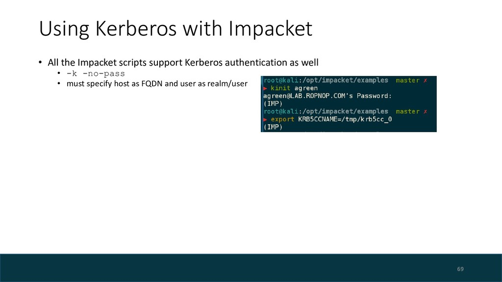 Using Kerberos with Impacket • All the Impacket...