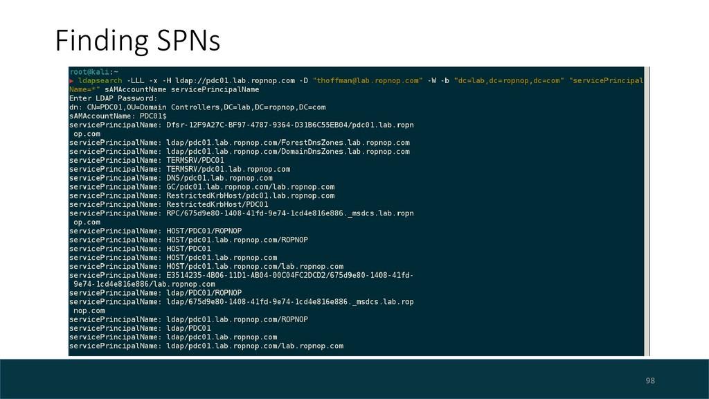 Finding SPNs 98