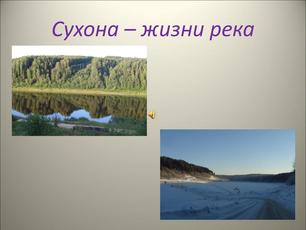 Сухона – жизни река