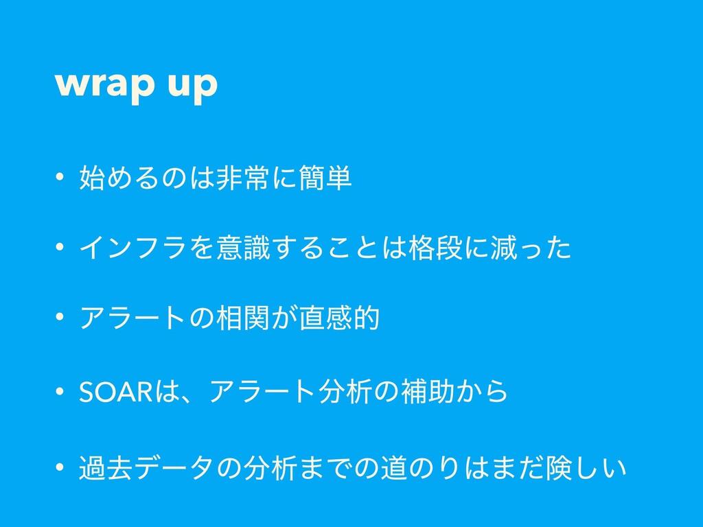 wrap up • ΊΔͷඇৗʹ؆୯ • ΠϯϑϥΛҙࣝ͢Δ͜ͱ֨ஈʹݮͬͨ • Ξϥʔ...