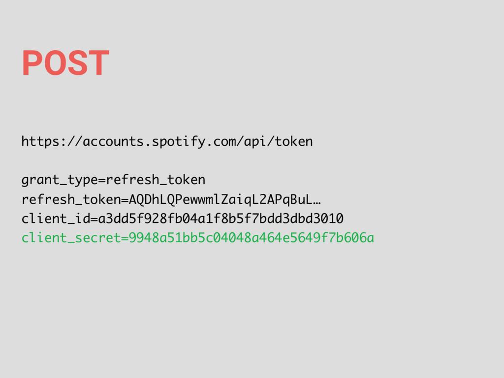 POST https://accounts.spotify.com/api/token gra...