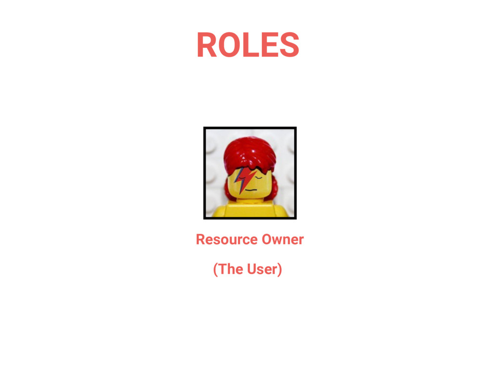 Resource Owner (The User) ROLES