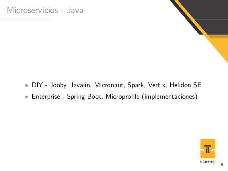Microservicios - Java • DIY - Jooby, Javalin, M...
