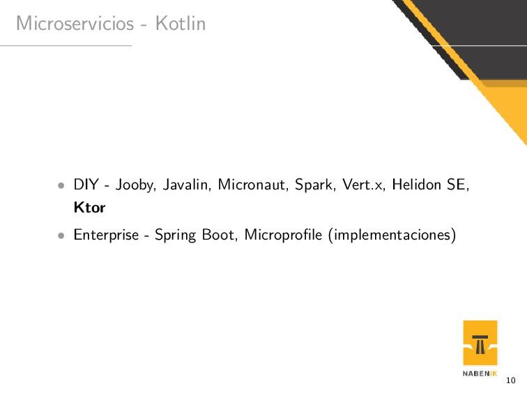 Microservicios - Kotlin • DIY - Jooby, Javalin,...