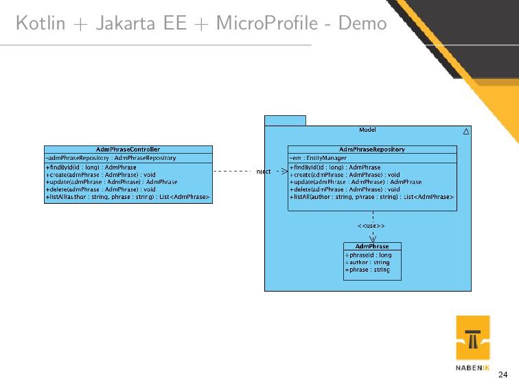 Kotlin + Jakarta EE + MicroProfile - Demo 24