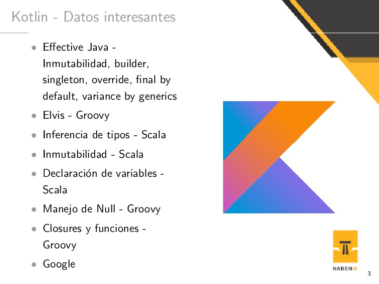 Kotlin - Datos interesantes • Effective Java - I...