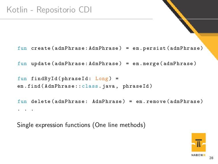 Kotlin - Repositorio CDI fun create(admPhrase:A...