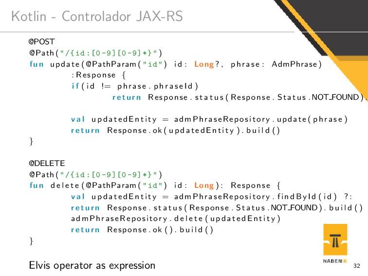"""Kotlin - Controlador JAX-RS @POST @Path ( """"/{id..."""