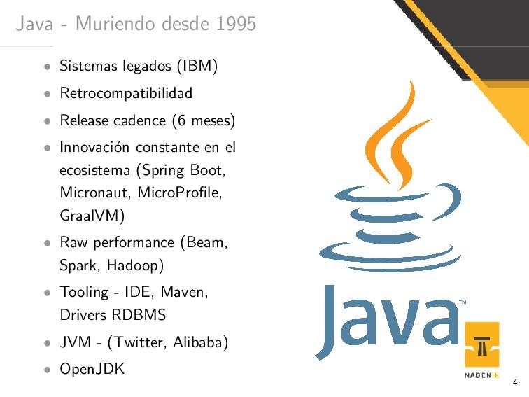 Java - Muriendo desde 1995 • Sistemas legados (...