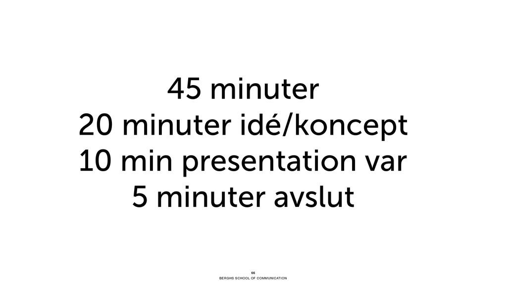 BERGHS SCHOOL OF COMMUNICATION 45 minuter 20 mi...