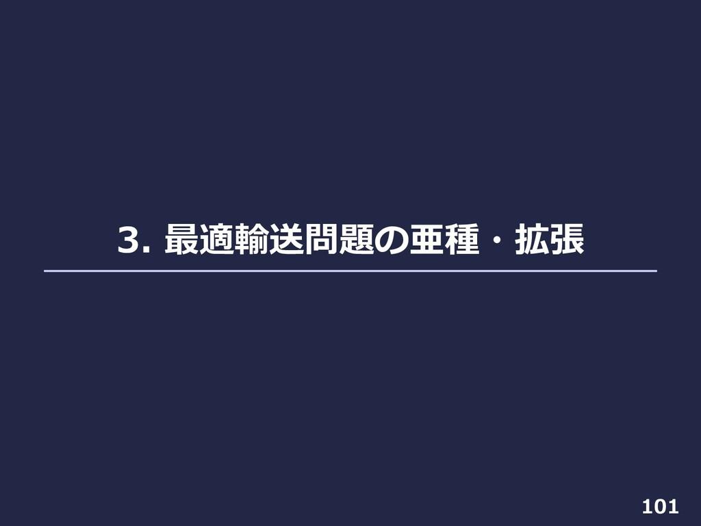 3. 最適輸送問題の亜種・拡張 101