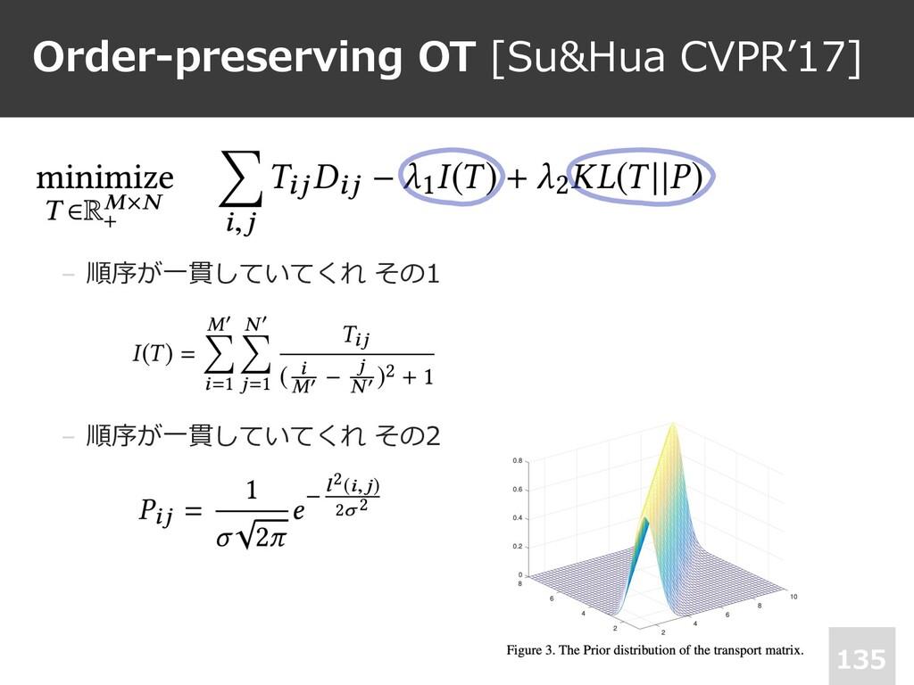Order-preserving OT [Su&Hua CVPR'17] 135 • . − ...