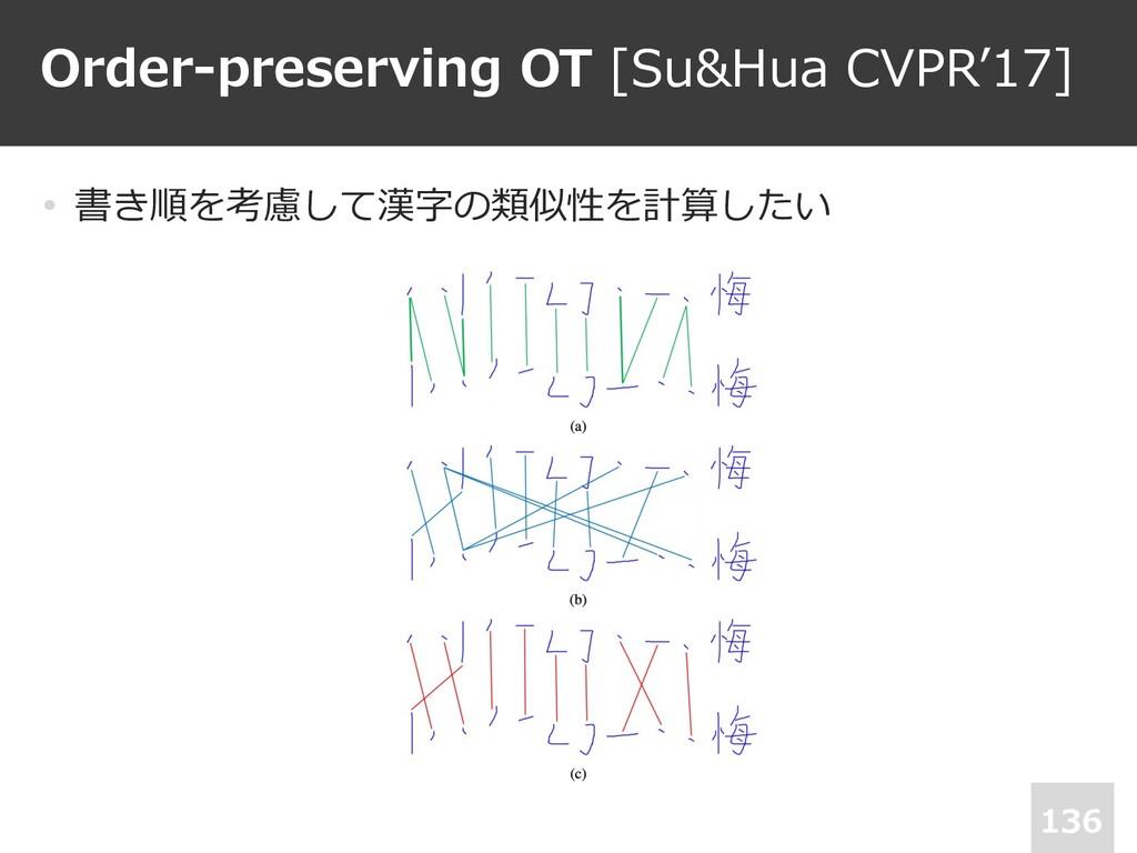 Order-preserving OT [Su&Hua CVPR'17] • 書き順を考慮して...