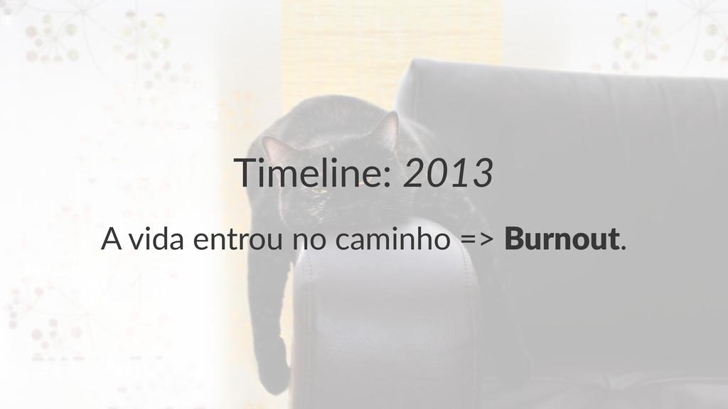 """Timeline:(2013 A""""vida""""entrou""""no""""caminho""""=>""""Burn..."""
