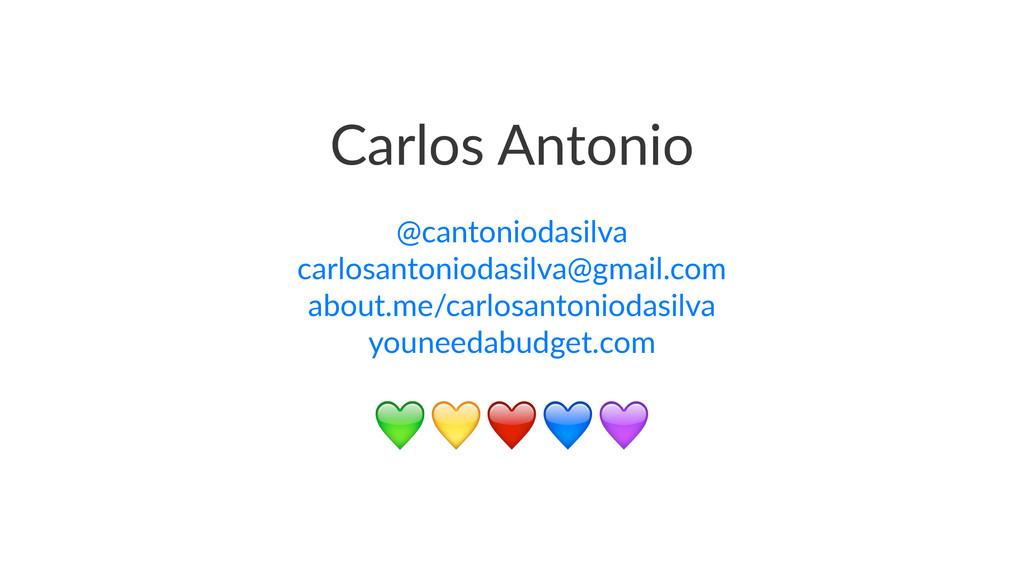 Carlos'Antonio @cantoniodasilva carlosantonioda...