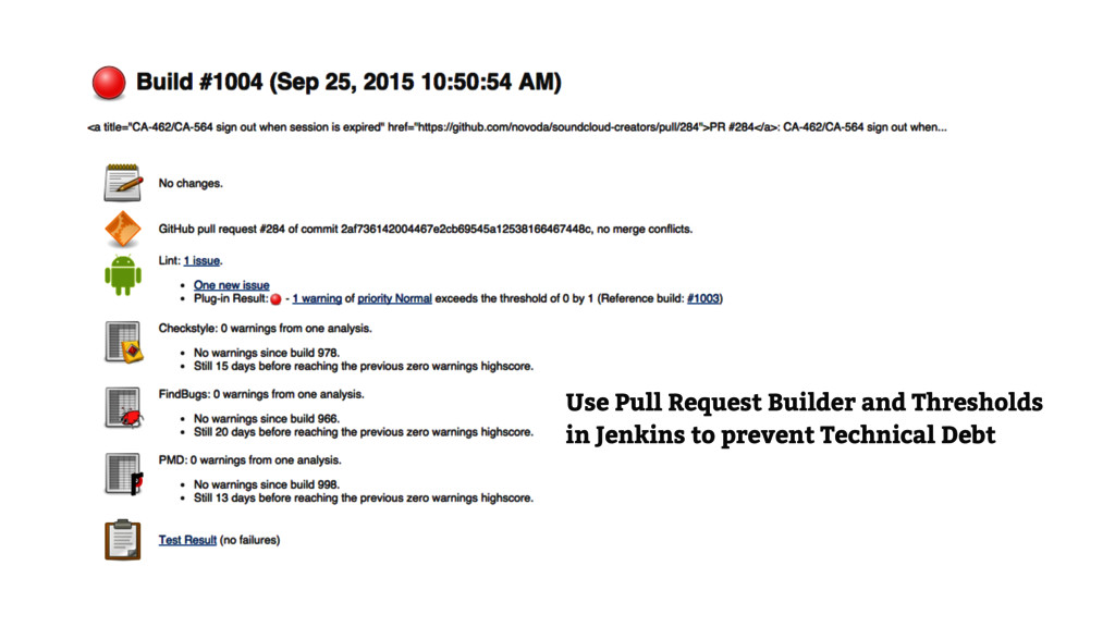 Use Pull Request Builder and Thresholds in Jenk...