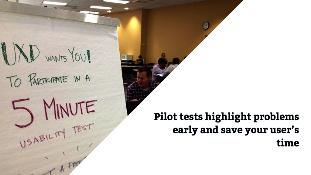Pilot tests highlight problems early and save y...