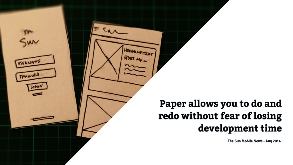Paper allows you to do and redo without fear of...