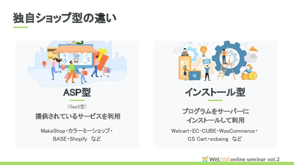 online seminar vol.2 独自ショップ型の違い MakeShop・カラーミー...