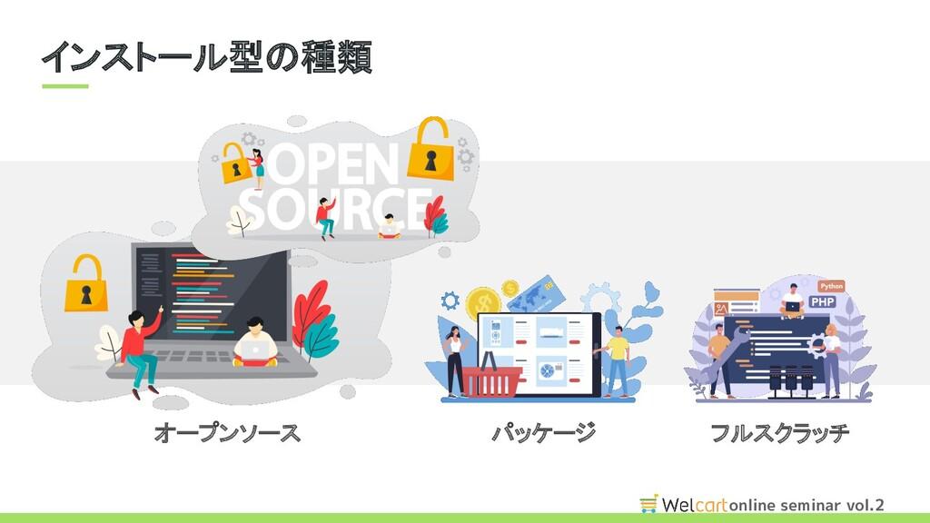 online seminar vol.2 インストール型の種類 パッケージ フルスクラッチ...