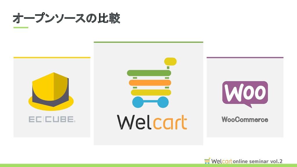 online seminar vol.2 オープンソースの比較 WooCommerce