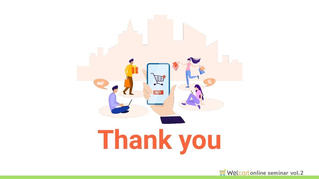 online seminar vol.2 Thank you