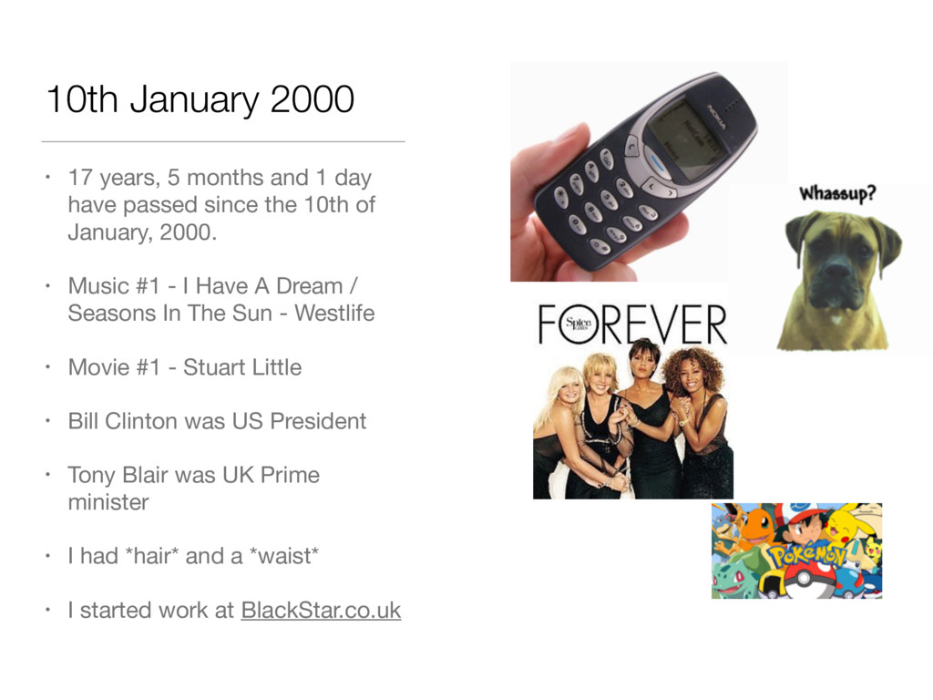 10th January 2000 • 17 years, 5 months and 1 da...