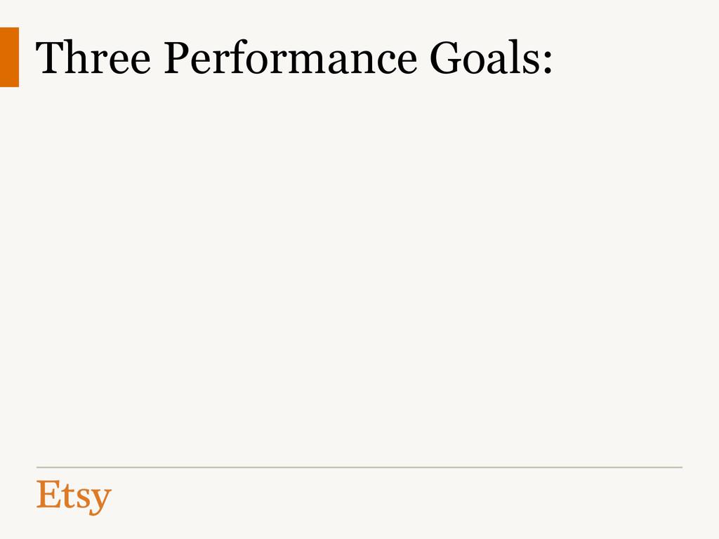 Three Performance Goals: