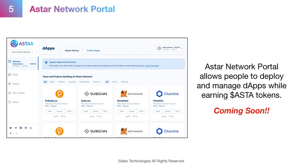 5 Stake Technologies All Rights Reserved Astar ...