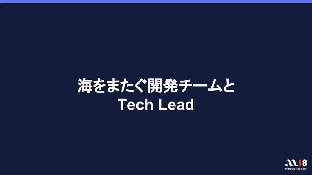 海をまたぐ開発チームと Tech Lead