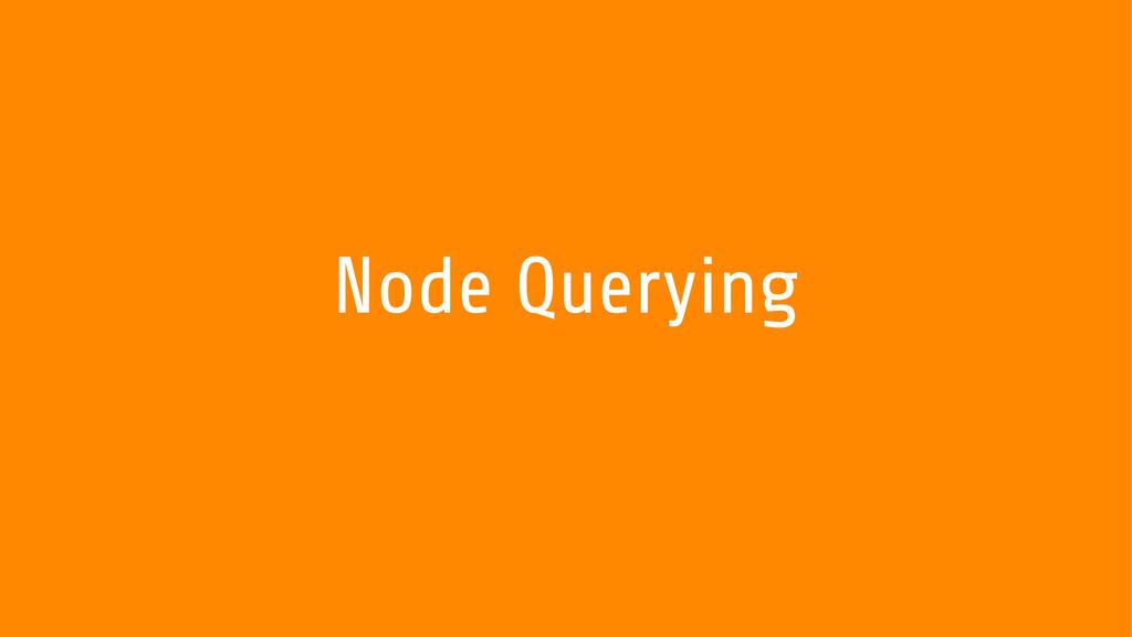 Node Querying