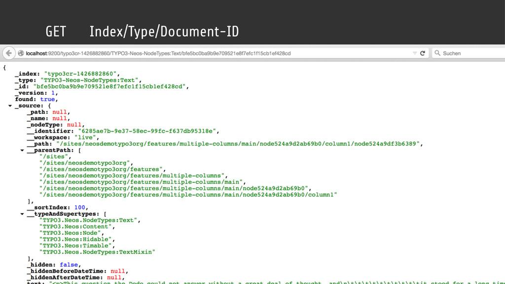 GET Index/Type/Document-ID