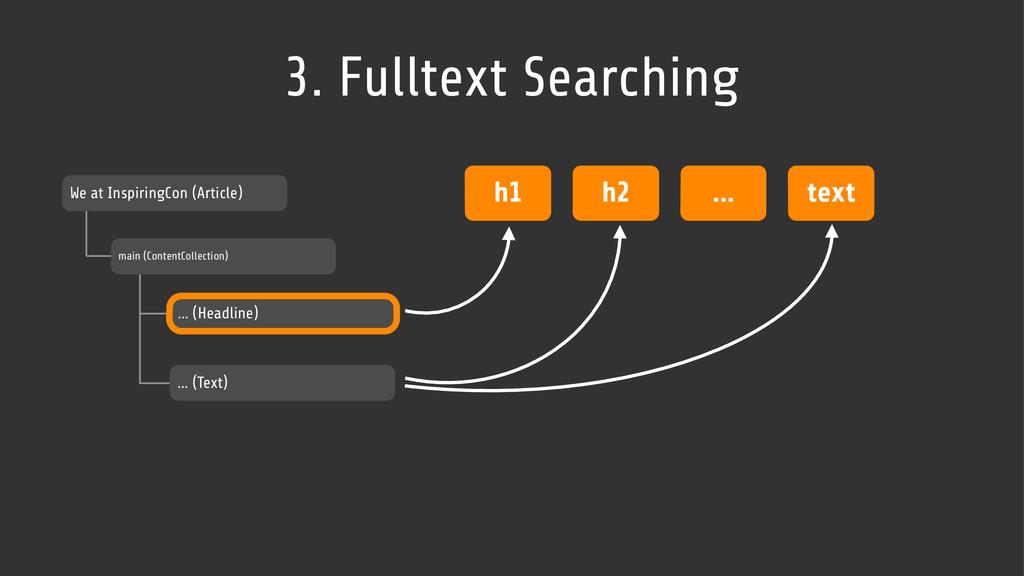 3. Fulltext Searching We at InspiringCon (Artic...