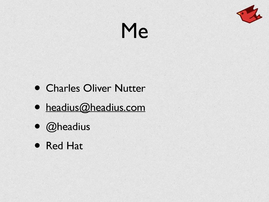 Me • Charles Oliver Nutter • headius@headius.co...
