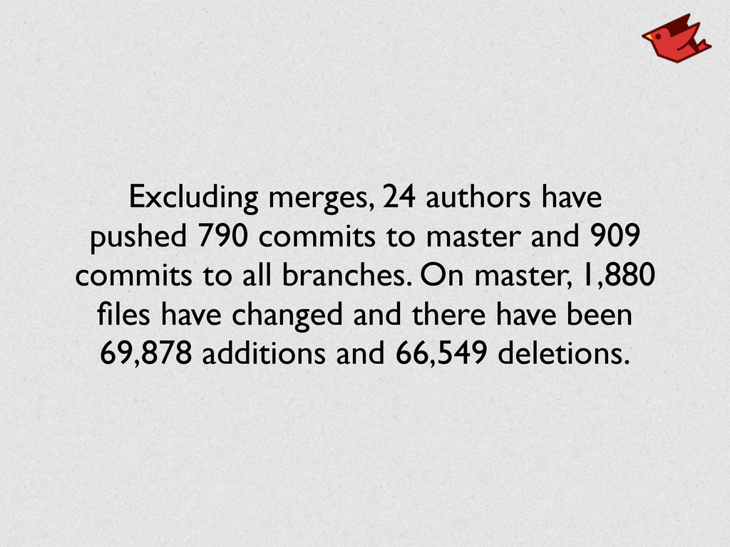 Excluding merges, 24 authors have pushed 790 co...