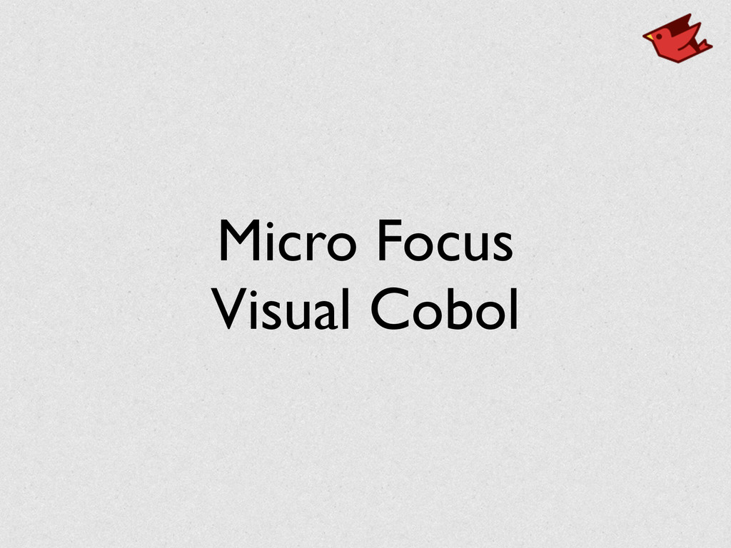 Micro Focus Visual Cobol