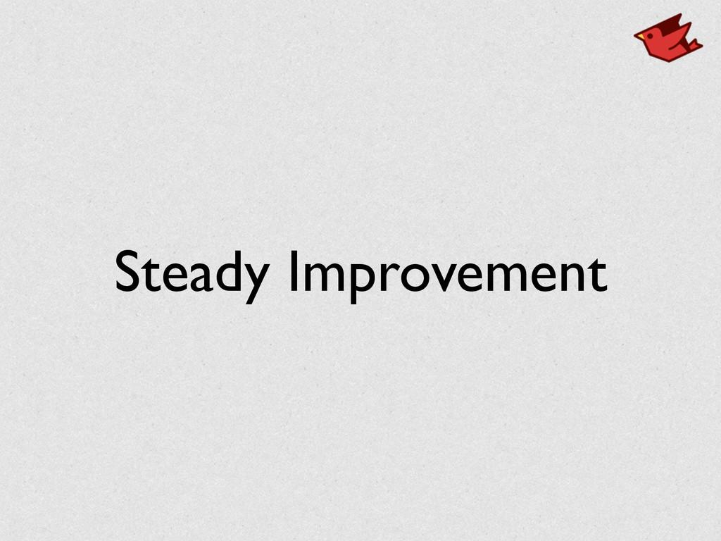 Steady Improvement