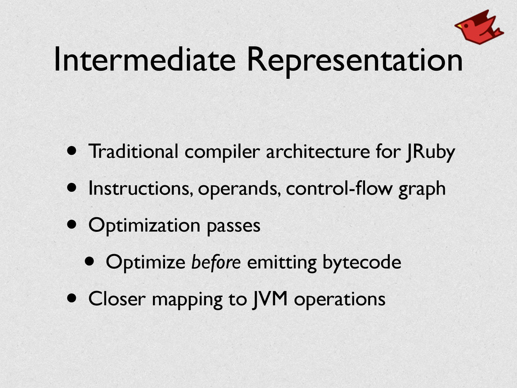 Intermediate Representation • Traditional compi...
