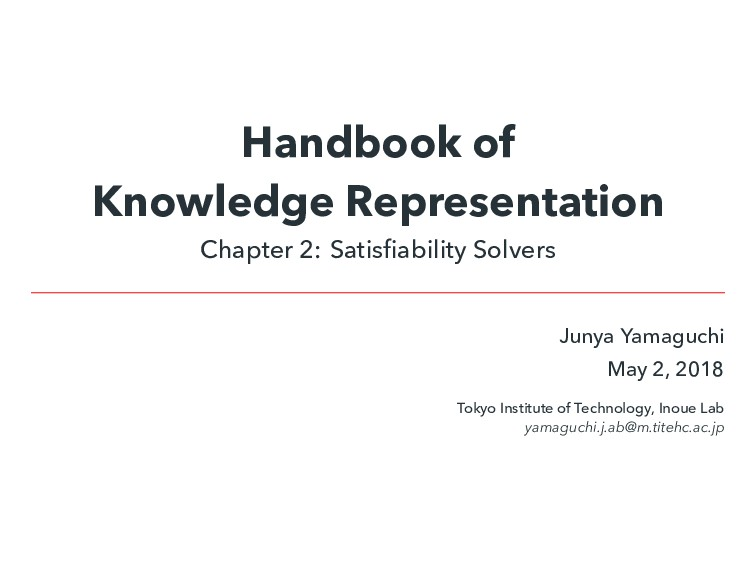 Handbook of Knowledge Representation Chapter 2:...