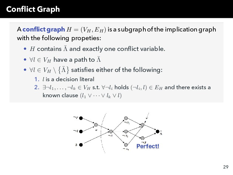 Conflict Graph A conflict graph H = (VH , EH ) is...