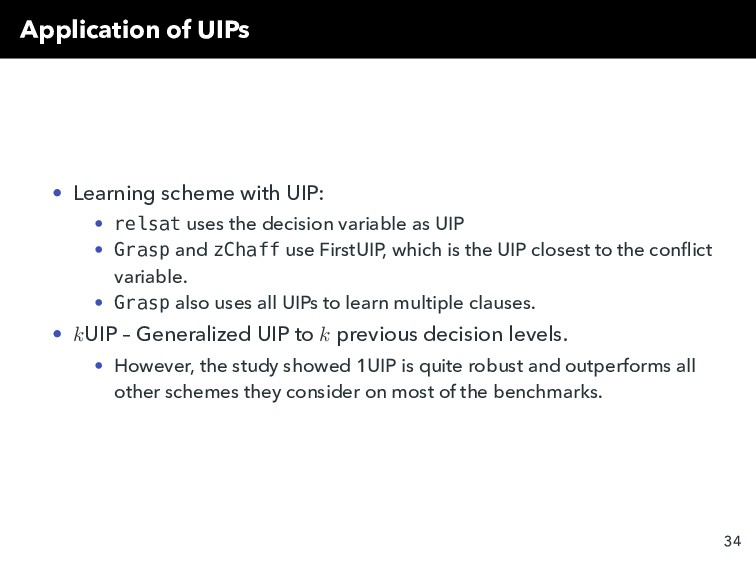 Application of UIPs • Learning scheme with UIP:...