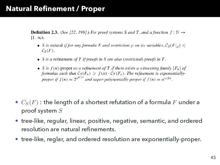 Natural Refinement / Proper • CS (F) : the lengt...