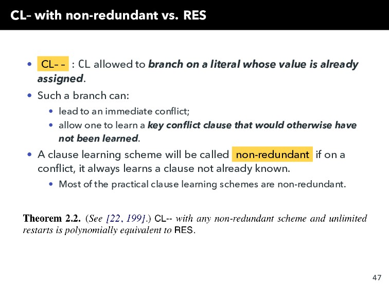 CL– with non-redundant vs. RES • CL– – : CL all...