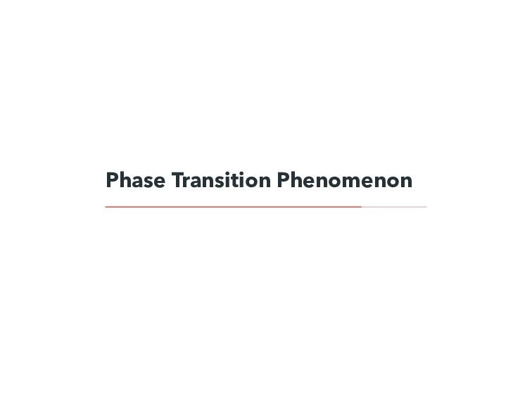 Phase Transition Phenomenon