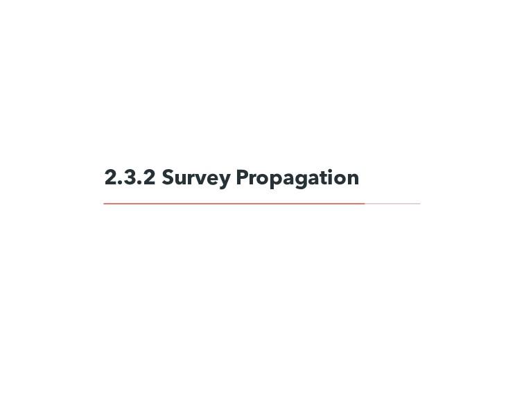 2.3.2 Survey Propagation